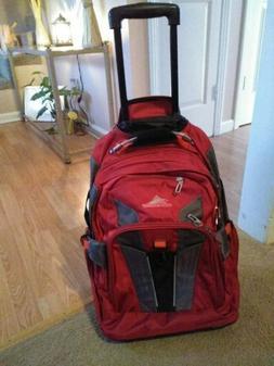 High Sierra XBT Wheeled Laptop Backpack - Carmine Red, Rolli